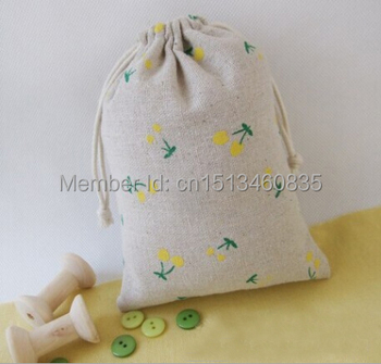 100pcs/lot CBRL  jute/linen/flax drawstring bags&pouch for cosmetic/jewelry,Various colors,size customized,wholesale
