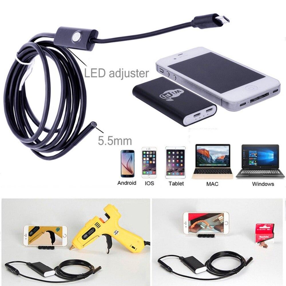 IOS Android Telefon üçün 5.5mm WiFi USB Endoskop OTG Borescope - Cib telefonu aksesuarları və hissələri - Fotoqrafiya 5