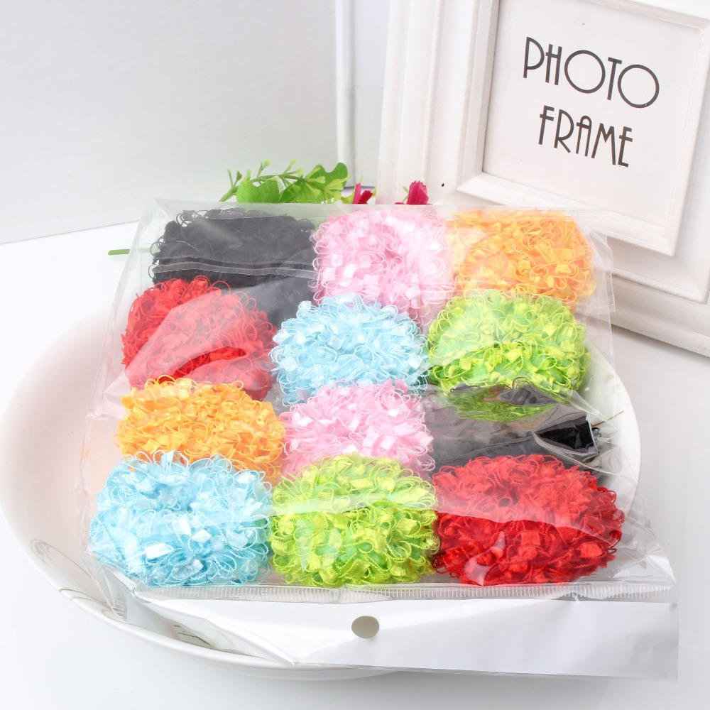M MISM 1Pack=12pcs Colorful Causal Fluffy Scrunchy Girls Hair Accessories Headband Ponytail Women Elastic Hair Bands Elastic m mism new arrival korean style girls hair elastics big bow dot flora ponytail rubber hair rope hair accessories scrunchy women