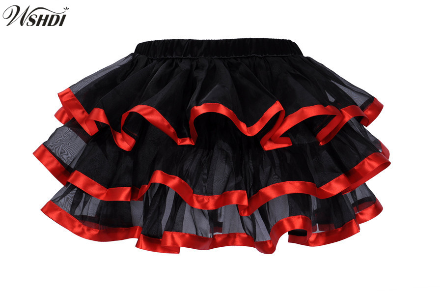 Black Mesh&Lace Decoration Ruffles Multilayer Sexy Micro Mini tutu Skirts Faldas Saia Cortas showgirl dance