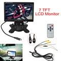 Novo 7 Polegada 7 Monitor de LCD TFT a Cores 2 Entrada De Vídeo Do Carro Em Headrest Polegadas Dvd VCR Monitor para Câmera de Segurança Do Carro DC 12 V 24 V