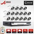 Onvif H.264 16CH NVR Network Security Surveillance System 6TB HDD 2.0MP 1080P Full HD 25fps IR Waterproof CCTV Network IP Camera