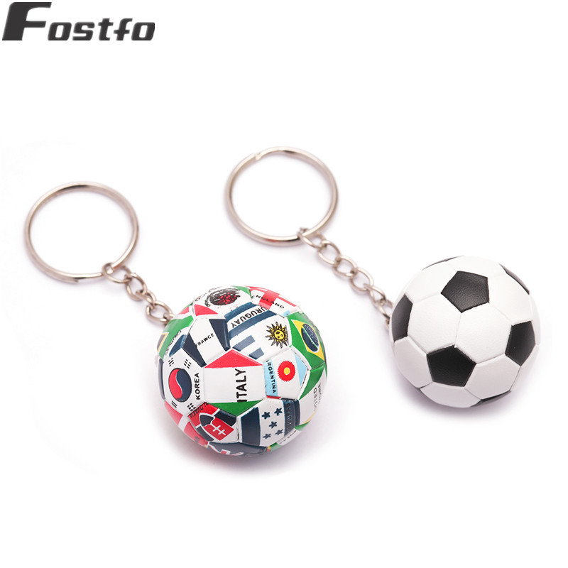 New Stereoscopic Football Keychain Fashion Sport Soccer Ball Key Chains Bag Pendant Trinket Items Key Ring Jewelry Gift