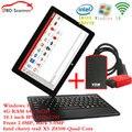 Intel Win10 Планшетный + вдм ucandas v3.9 Wi-Fi Универсальный Автомобильный Сканер OBD2 Диагностика Автомобилей Сканер
