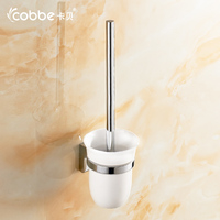 Mirror 304 Stainless Steel Toilet Bowl Brush Wall Mounted Bathroom Accessories Cleaning Brush Holder Bathroom Set