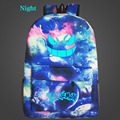 Nightlight Galaxy Luminous Printing Backpack Pokemon Gengar Backpacks Emoji Backpack School Bags For Teenagers Men's Backpack