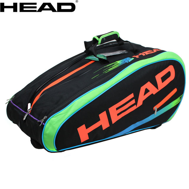 2017 New Head 9 Pack Tennis Bag Backpack Back Limited Edition Murray Signature Neon Bags