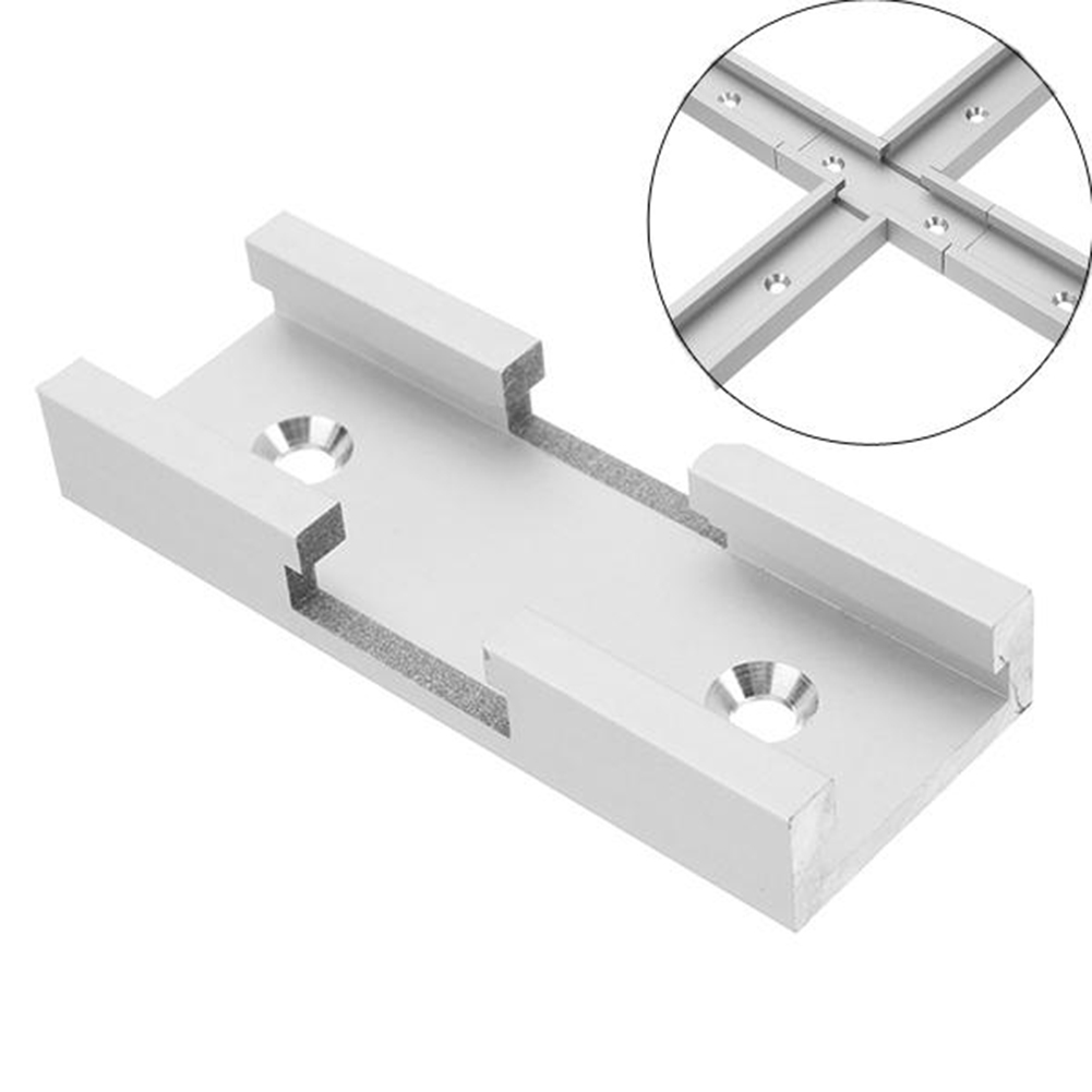 80mm T-track Connector Aluminium Alloy T-slot Miter Track Jig Fixture Slot Connector For Router Table Woodworking Machinery Part