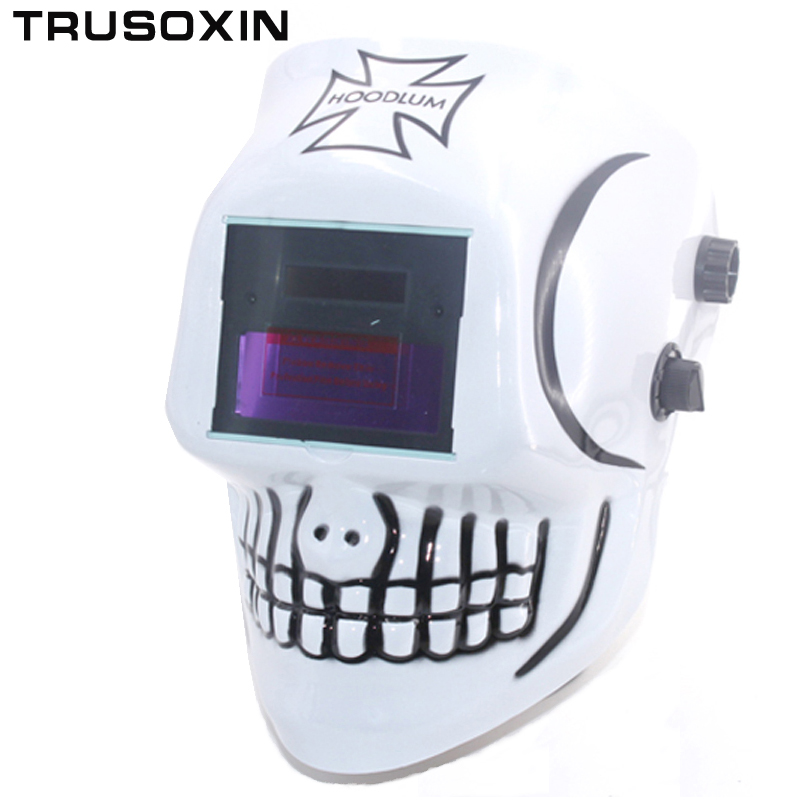 NEW SKull AAA Battery+Solar Auto Welding  Mask /Welding Helmest/Welder Cap for the TIG MIG MMA MAG Welding Equipment mig mag burner gas burner gas linternas wp 17 sr 17 tig welding torch complete 17feet 5meter soldering iron air cooled 150amp