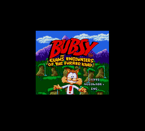 Bubsy in Claws Encounters of the Furred Kind (U) 16 Bit Big Gray Game Card For NTSC USA Game Console
