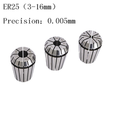 high precision 0.005mm Engraving machine chuck ER25 elastic cylindrical CNC spring spindle accessories 3 4 6 8 -16mm