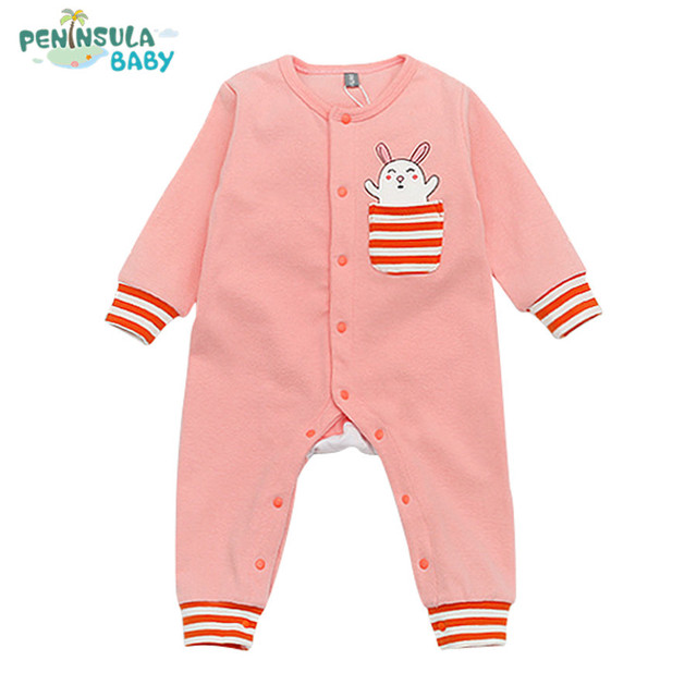 83f5e3563 Spring Brand Romper Baby Boys Girls Clothes Children Toddler Long ...