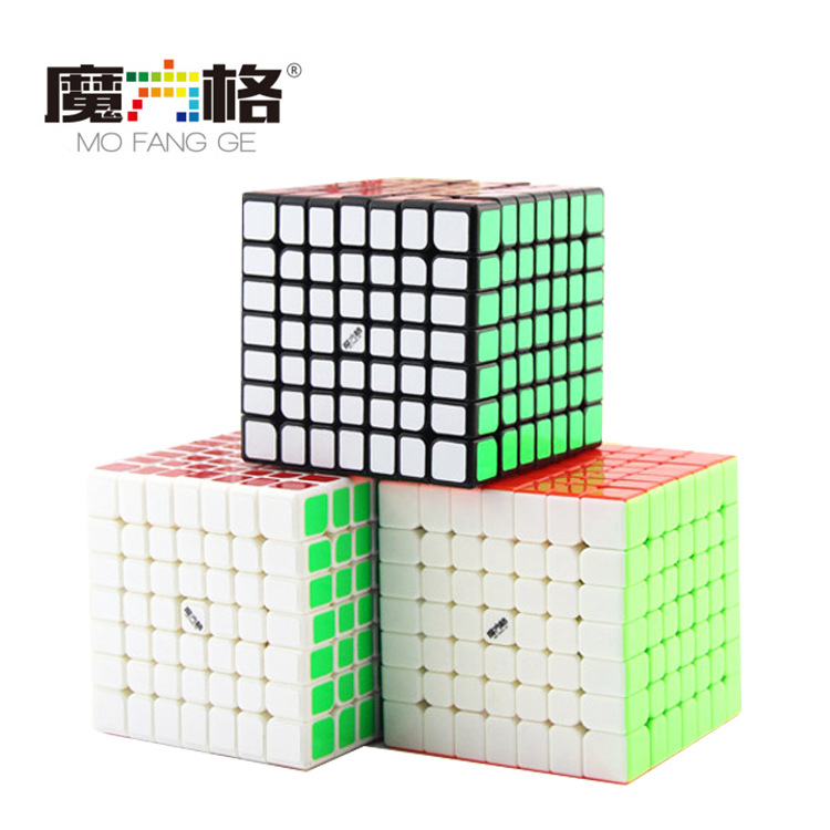 QiYi MoFangGe Wuji Magic Cube 7x7 Pro Speed Cube professional Speed magico Cubo cube stereo 160 hpa 27 5 pro