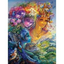 DIY flower women diamond painting dimaond embroidery full drill mosaic round