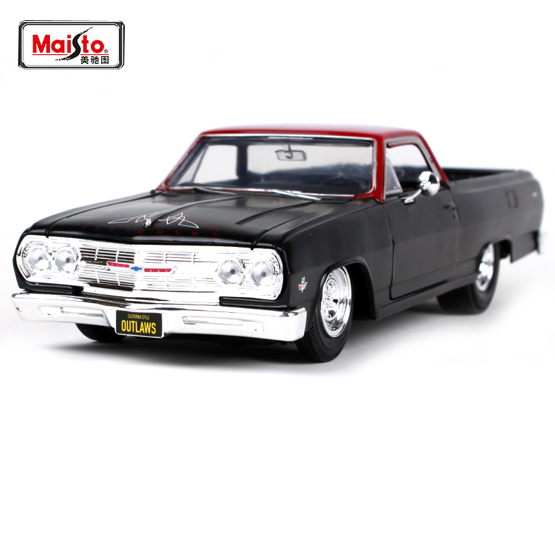Maisto 1 25 1965 Chvrolet EL CAMINO Pickup Truck Was Reloaded Diecast Model Car Toy New