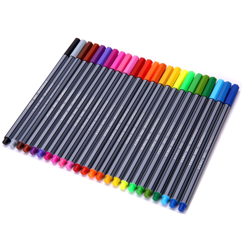 Stabilo 24 Colors 0.4mm Tip Sketch Marker School Office Fine Line Water Color Pen Drawing Stationery Smooth Art Supplies