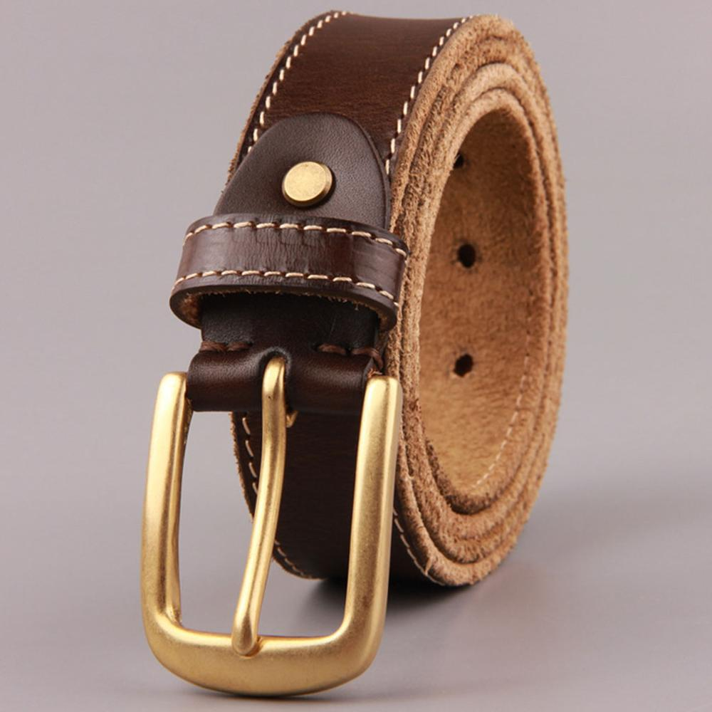 FAJARINA Unisex Luxury Fashion 100 Cow Skin Leather Mens Brass Clasp Buckle Cowhide Belts for Men Can Use for 10 Years N17FJ438 in Men 39 s Belts from Apparel Accessories