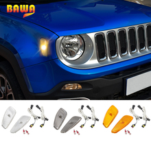 BAWA Car Front Head Side LED Light Accessories for Jeep Renegade 2016-2017