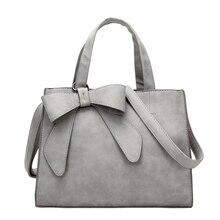 New pu Leather Fashion 2019 Bow Scrub Female Bag Handbag Female Handbags  Generous Package Simple Shoulder Messenger Bag цены онлайн