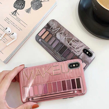 Luxury Sexy woman Silicone Eye Shadow Box Phone Cases For iphone 6s Case 7 8 6 Plus X XS Max XR Nude Color eye box Cover