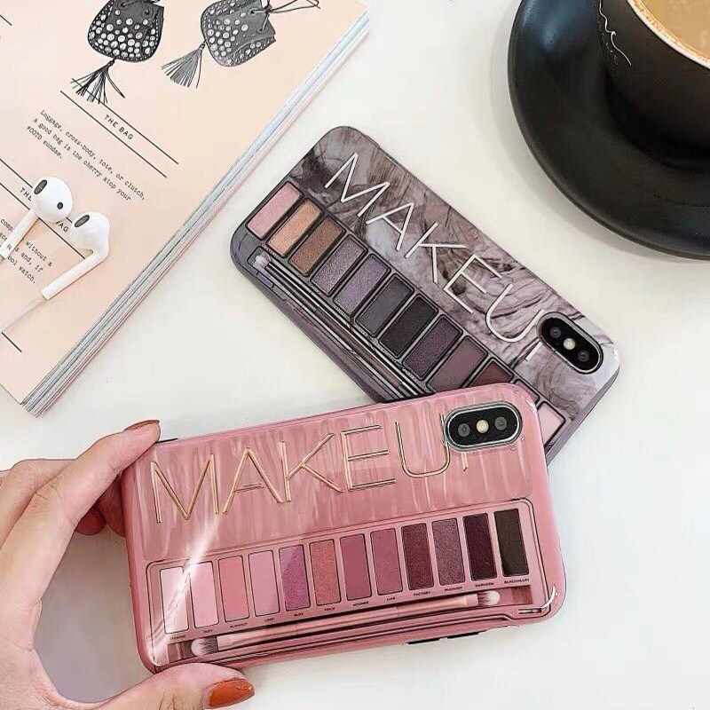 Luxury <font><b>Sexy</b></font> woman Silicone Eye Shadow Box Phone <font><b>Cases</b></font> For <font><b>iphone</b></font> 6s <font><b>Case</b></font> <font><b>7</b></font> 8 6 <font><b>Plus</b></font> X XS Max XR Nude Color eye Shadow box Cover image