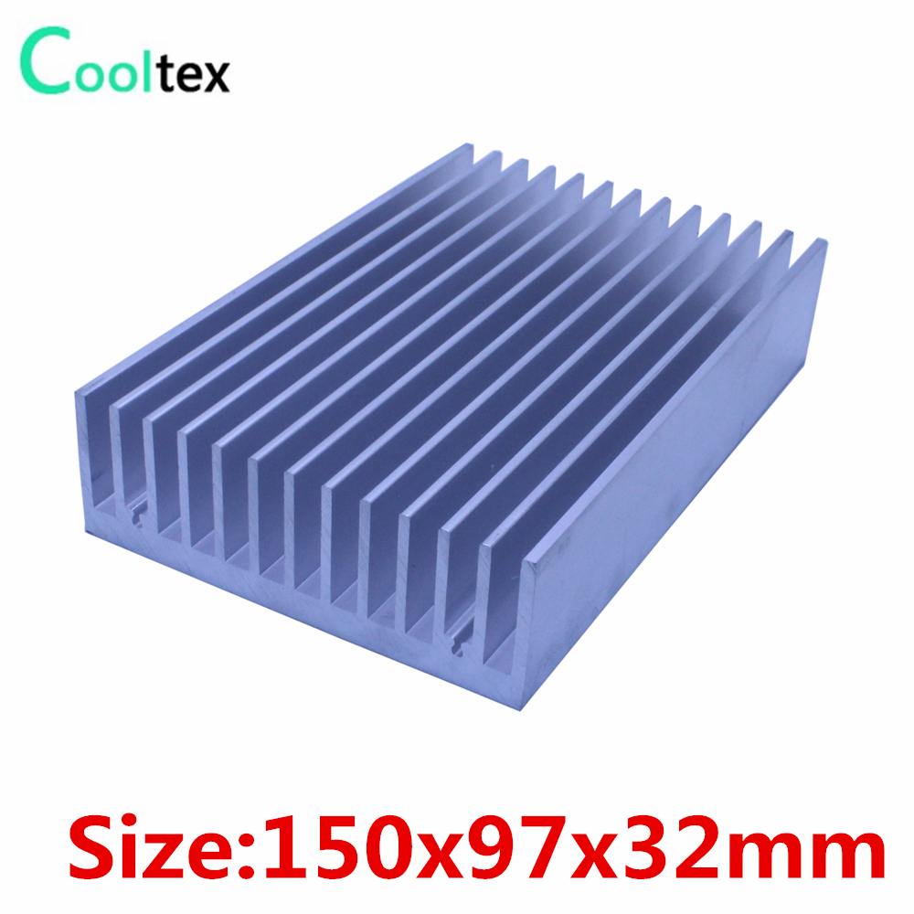 (High power) 150x97x32mm Aluminum heatsink Heat Sink radiator cooler for chip LED Electronic cooling cooler 20pcs lot aluminum heatsink 14 14 6mm electronic chip radiator cooler w thermal double sided adhesive tape for ic 3d printer