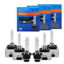 Ampoule originale en métal pour phares de voiture, ampoule D1S 35W, HID, 4300K 6000K 8000K D1S D1R D3S 55W 5000K D2S D4R D4S