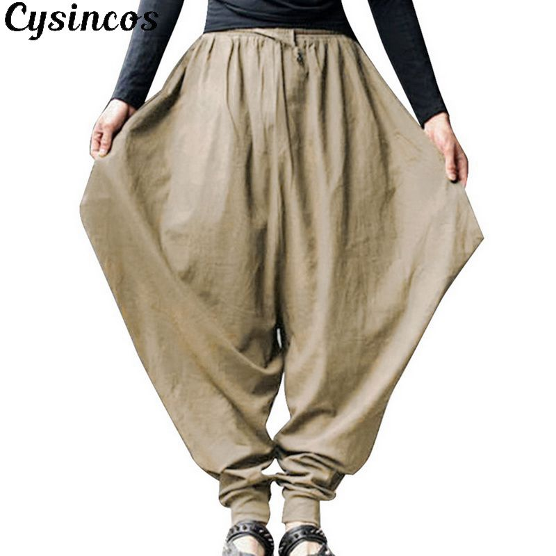 CYSINCOS Hip-Hop Pants Harem-Trouser Streetwear-Pants Drop-Crotch Punk-Style Baggy Gothic