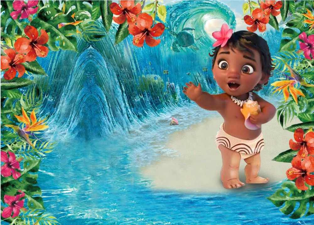 Cartoon Baby Moana Newborn Custom Photography Studio