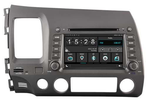 Car dvd Player for HONDA CIVIC LHD 2006-2011/1080P/DVR/3G/WIFI/TPMS/GPS/RADIO/bluetooth/ ...