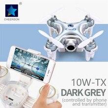 CHEERSON CX-10W-TX 2.4G FPV RC Phone Controlled Mini Drones with Camera RTF CX10WTX Mini Quadcopter