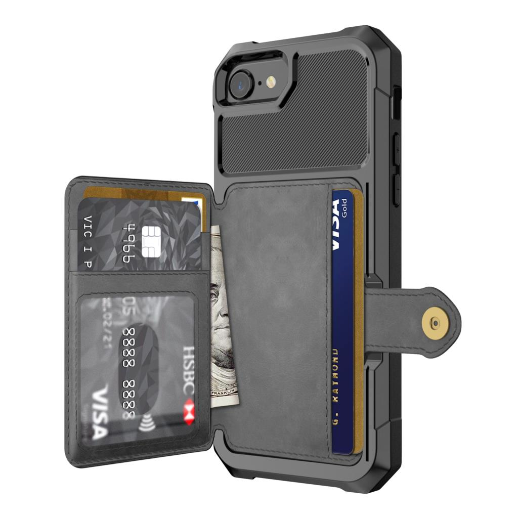 Image 2 - Luxury PU Leather Wallet Case for iPhone 6 6s 7 8 Plus X XS XR XX MAX Cases Wallet Flip Cover Buckle for iPhone Phone XR Fundas-in Fitted Cases from Cellphones & Telecommunications