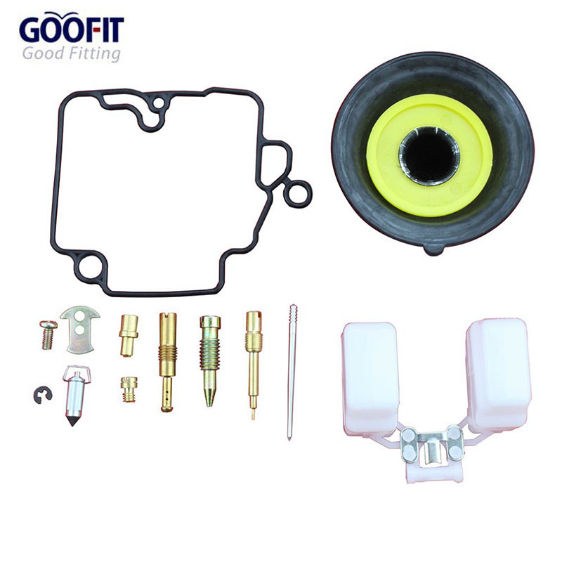 GOOFIT Kit Riparazione Carburatore Carburatore 18mm Kit Rebulit per GY6 50cc ATV Go Kart & Scooter TaoTao A012-032