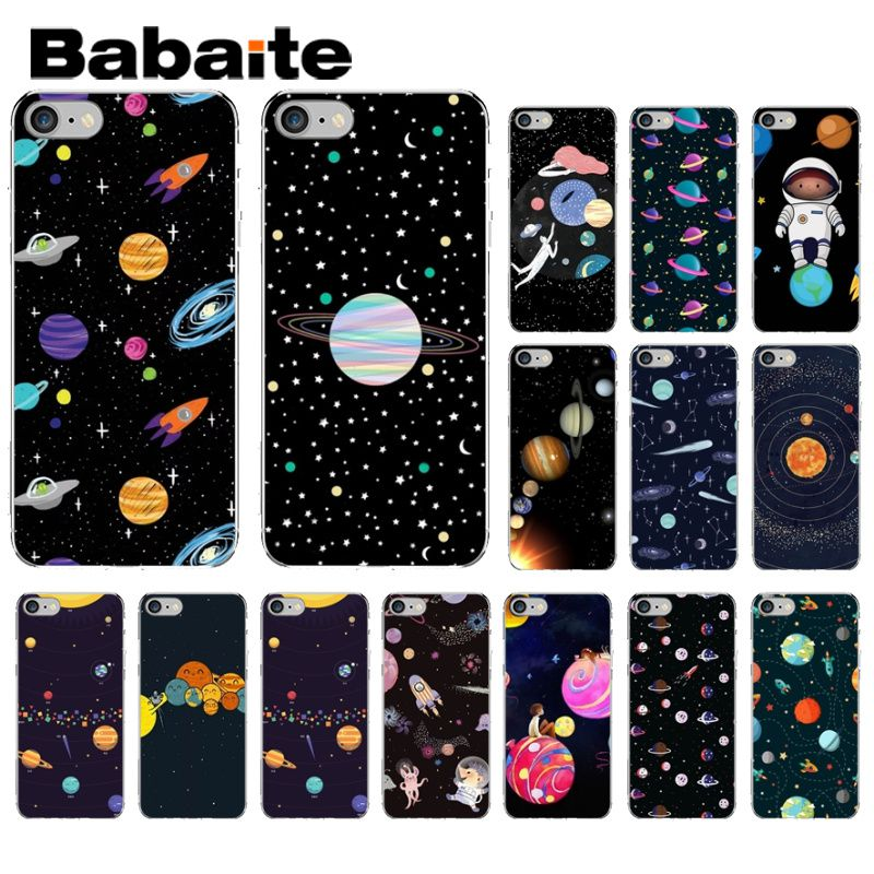 Babaite Space Stars Moon Airship Astronaut Soft Transparent Phone Case For Apple Iphone 8 7 6 6s Plus X Xs Max 5 5s Se Xr Cover Activating Blood Circulation And Strengthening Sinews And Bones Cellphones & Telecommunications
