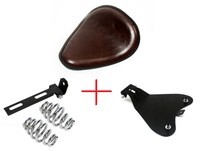 Brown Solo Base Spring Driver Seat Pad Bracket Kit For Harley Sportster 883