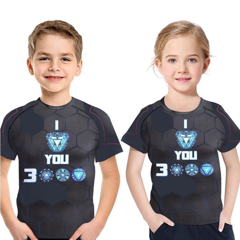 Childrens Summer T-Shirt 3D Print Boy Clothes Fashion Movie Kids t shirt Short Sleeve 2019 New Casual Boy/Girl cool Bobo