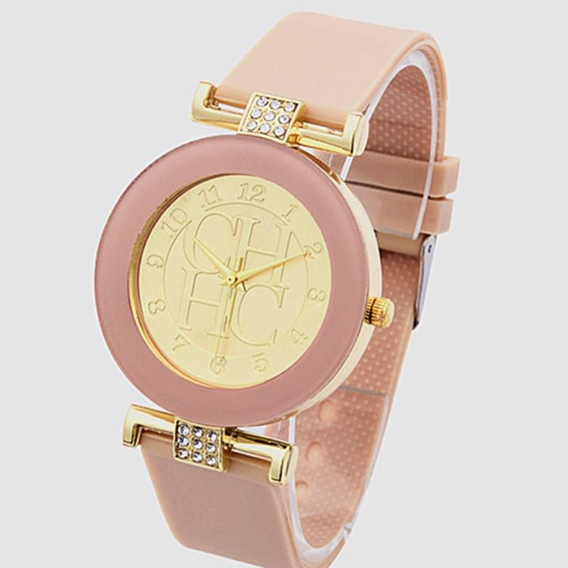 relogios femininos Fashion Brand Gold Geneva sport Quartz Watch Women dress casual Crystal Silicone Bear Watches montre homme