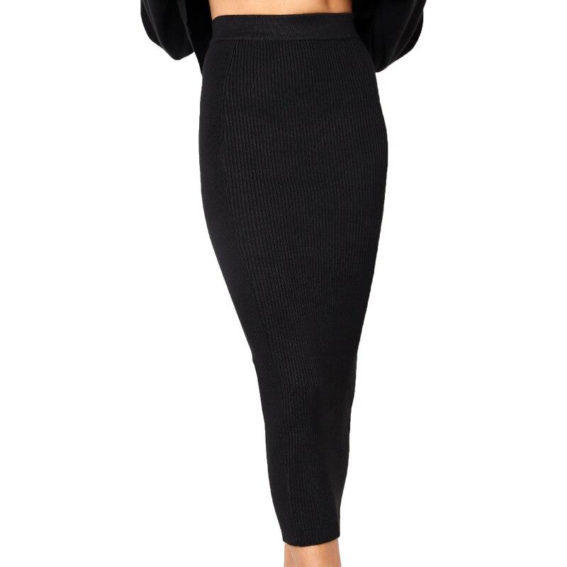 e486d0613bdc Spring Summer Sexy Women Bodycon Split Long Skirt Black High Waist Tight  Maxi Skirts Club Party ...