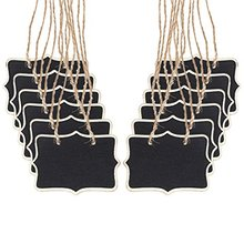 50pcs Double Sided Hanging Signs Blackboard Mini Rectangle Chalkboards Black Board for Message Board Signs wedding Party deco цена 2017
