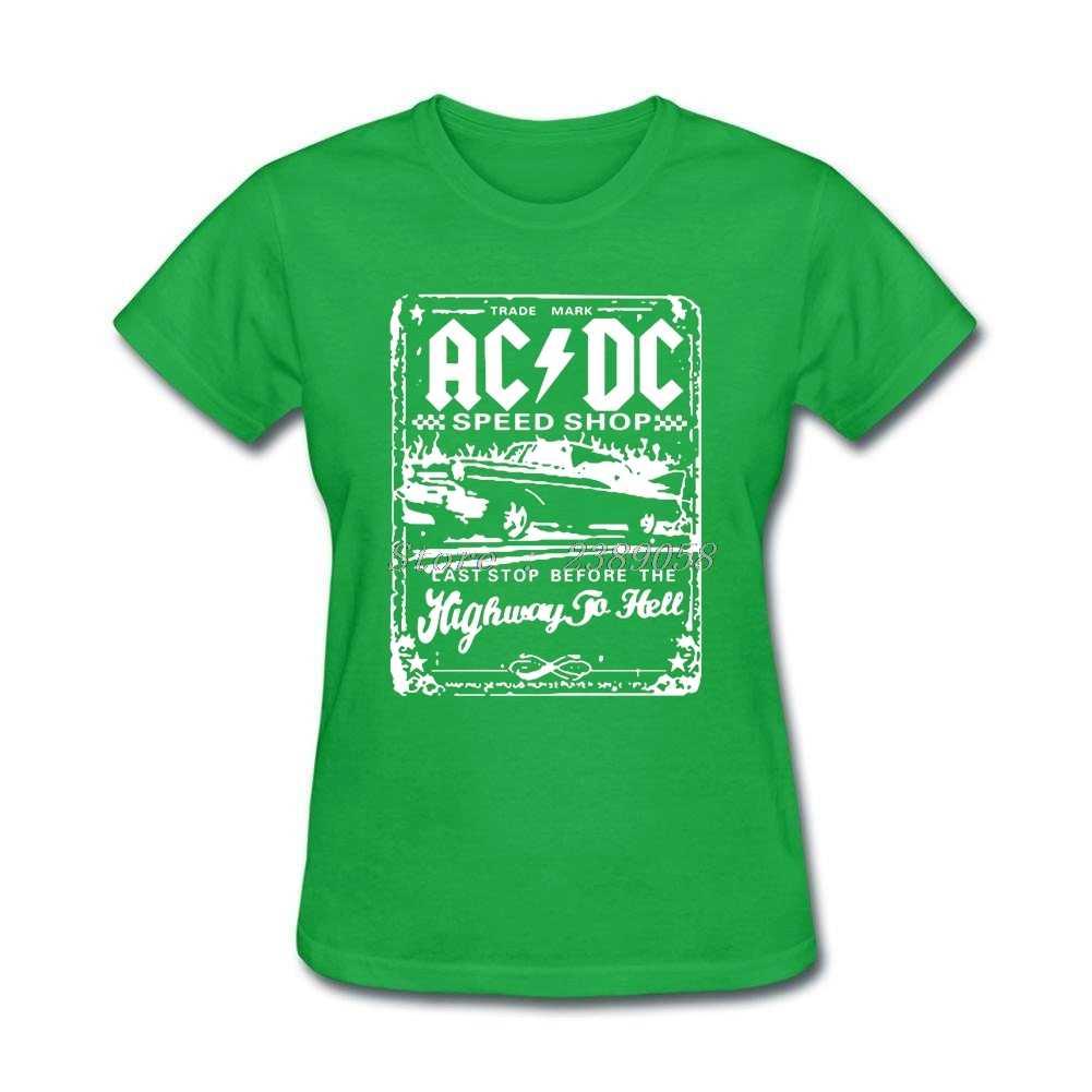 Camisetas de diseño de mujer nueva llegada verano Malcom Tops marca de lujo corto ACDC Rock mujeres Camisetas talla grande