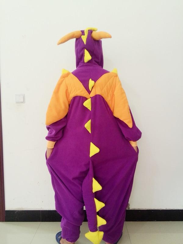 Cute cartoon animal pajamas Purple Dragon Little Fire Dragon Blue Ile Little Donkey Long Pajamas Christmas Gifts