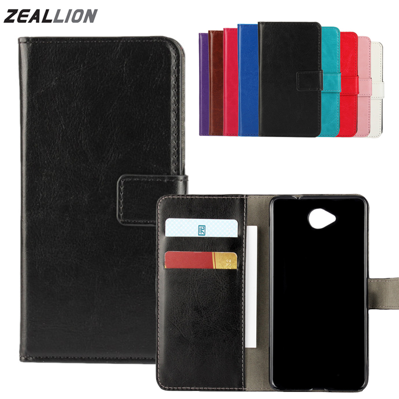 For Microsoft <font><b>Nokia</b></font> Lumia 435 520 535 625 630 640 650 730 830 930 Case Wallet Holster Flip Crazy-Horse Leather Cover image
