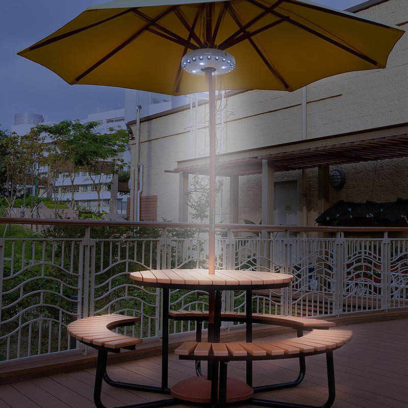 Консольное зонтичное освещение открытый консольный бассейн беспроводной стенд колода свет стол Кемпинг QJS магазин