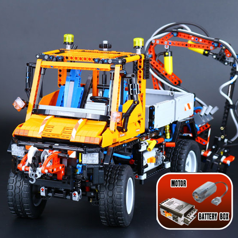 New LEPIN 20019 2088Pcs Technic Truck Unimog U400 Model Building Kits Blocks Bricks Funny Educational Gifts Compatible Toys 8110 new phoenix 11207 b777 300er pk gii 1 400 skyteam aviation indonesia commercial jetliners plane model hobby
