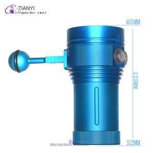 Image 3 - المهنية مصباح غوص 15 XML2 + 6 أحمر + 6 UV LED التصوير فيديو الغوص مصباح يدوي تحت الماء 100 متر الغوص الفيديو الضوئي