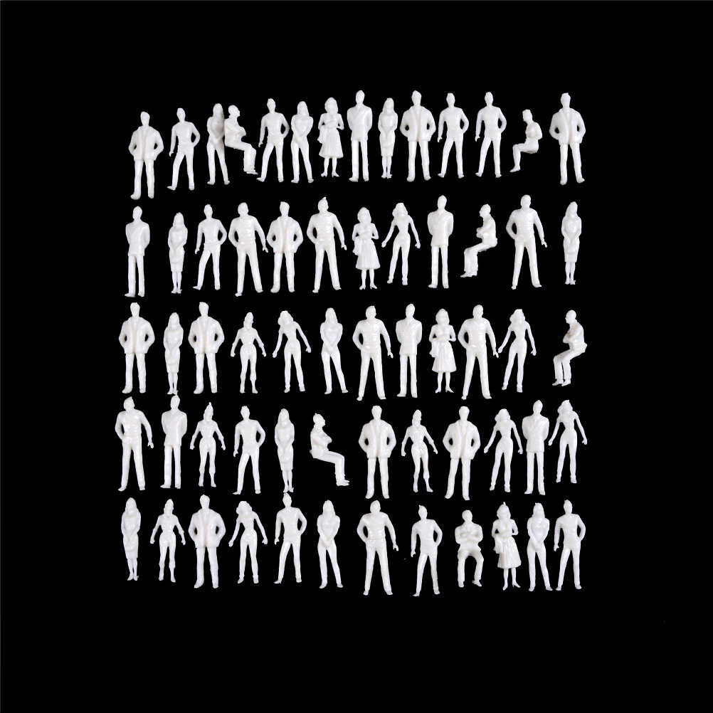 10 Buah/Pack Manusia Skala HO Model ABS Plastik Orang 1:50 Skala Model Miniatur Putih Angka Arsitektur Model
