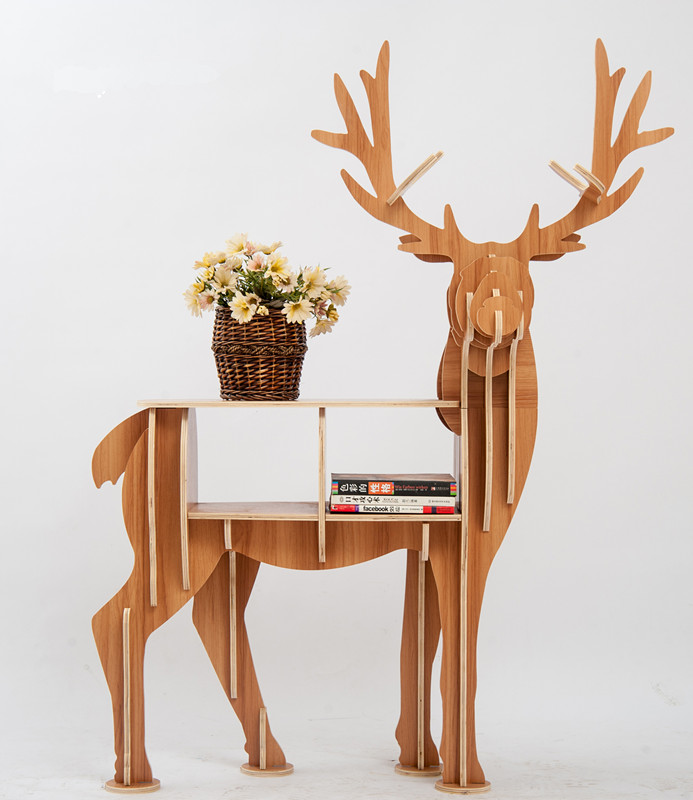 cds furniture. Large Book Rack Bookcase Display Storage Furniture For CDs, Movies \u0026Books Animal Deer Bookrack Wooden Shelves-in Bookcases From Cds