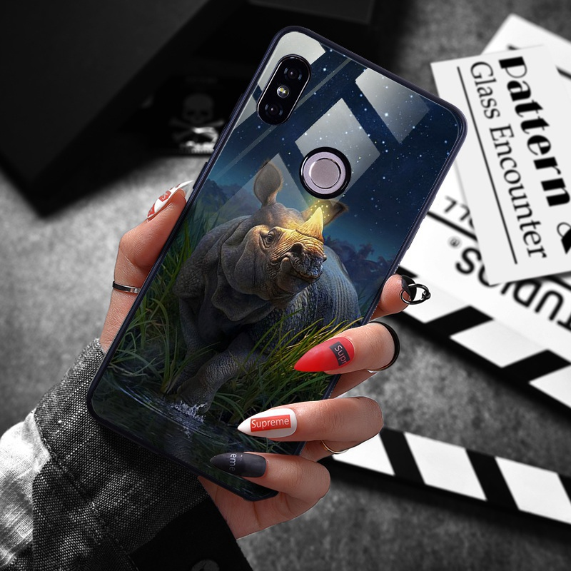 note 5 phone cases Tempered Glass Case For Xiaomi Redmi Note 5 5 Pro 5 Plus Note 4X Case Luxury Animal Pattern Case For Xiaomi Mi 8 A1 5X Coque (11)