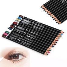 12 Pcs / set Eyeliner Berwarna Pensil Mata Make Up Tahan Air lapis de olho Alis Pena Kecantikan Dari Eye Liner Pensil bibir Kosmetik Z3