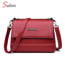 New Vintage Crossbody Bag For Women Casual PU Leather Flap Female Small Women's Shoulder Bag Ladies Multifunction Shopping Bag